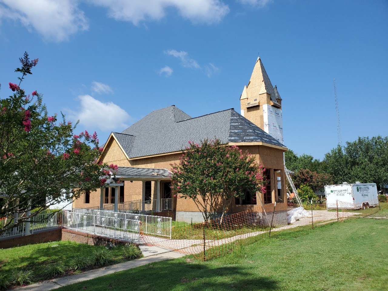 Church exterior under construction