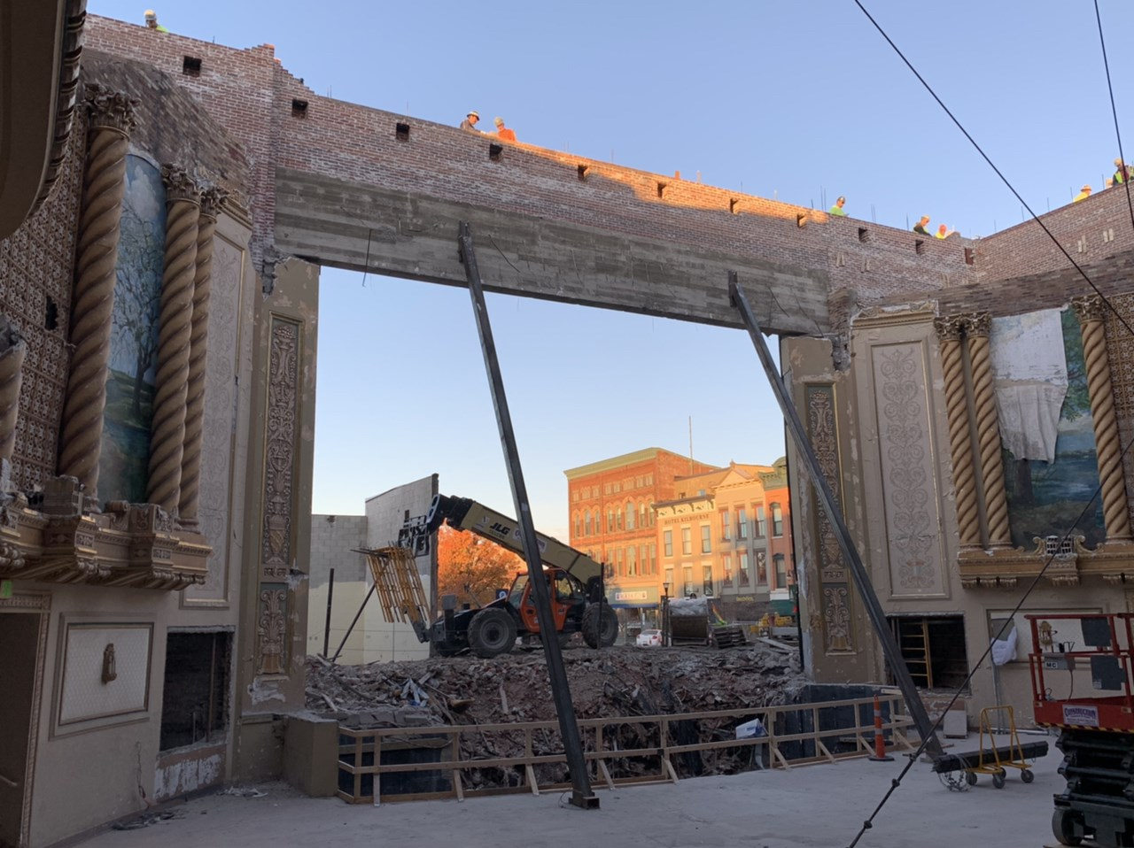 Theater under construction